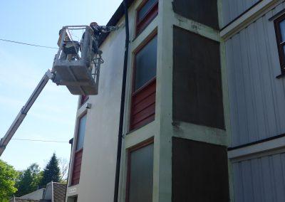 maling aav hus med lift