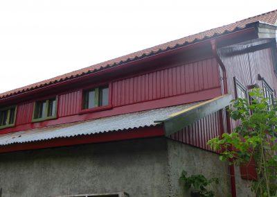 Nesten ferdig malt hus
